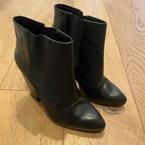 Rachel Comey Black Leather Heeled Ankle Boots